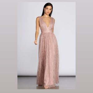 Rose Gold Glitter Gown - Windsor